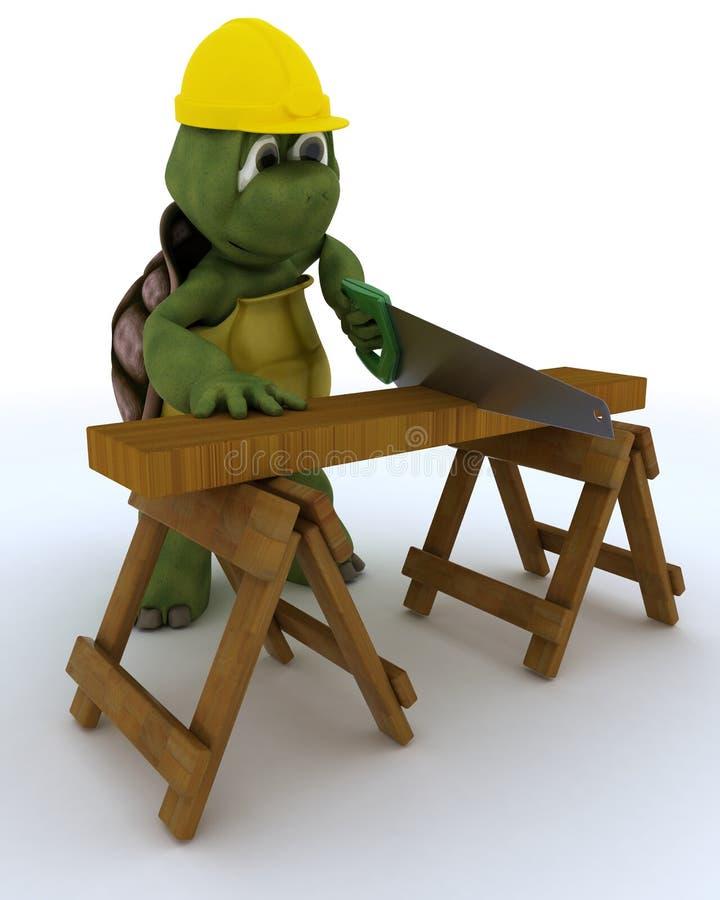 Ανάδοχος ξυλουργών Tortoise ελεύθερη απεικόνιση δικαιώματος