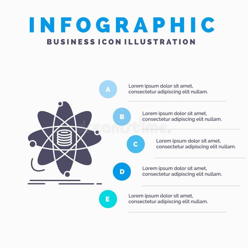 Ανάλυση, στοιχεία, πληροφορίες, έρευνα, πρότυπο Infographics επιστήμης για τον ιστοχώρο και παρουσίαση Γκρίζο εικονίδιο GLyph με  απεικόνιση αποθεμάτων