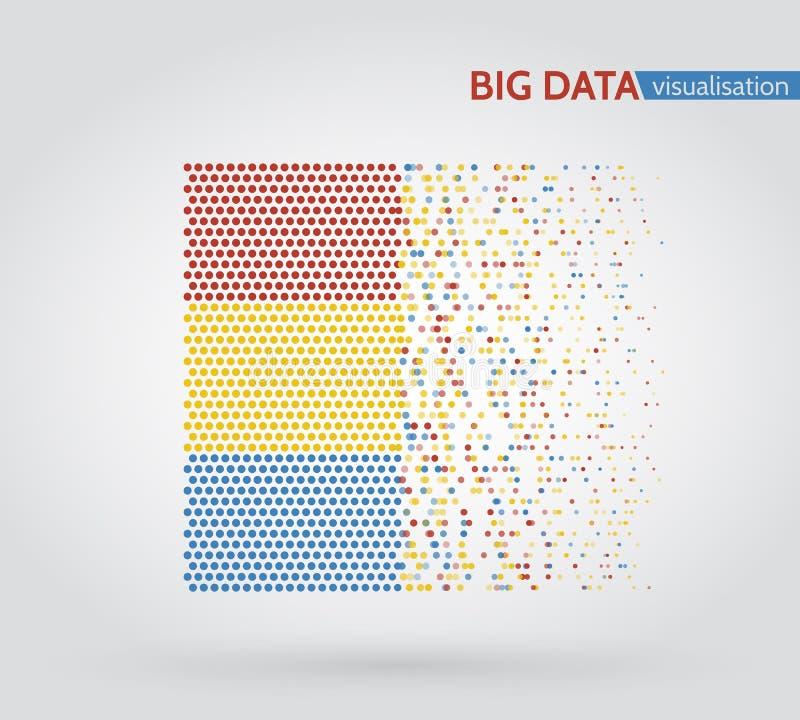 Ανάλυση του σχεδίου Minimalistic Infographics πληροφοριών διανυσματική απεικόνιση