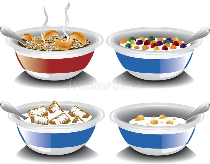 Ανάμεικτα δημητριακά προγευμάτων απεικόνιση αποθεμάτων