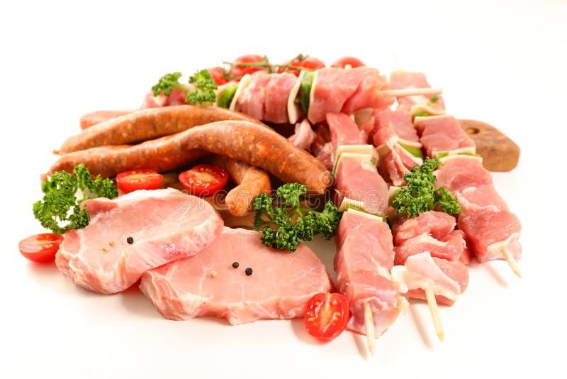 ανάμεικτα κρέατα ακατέργα στοκ φωτογραφία με δικαίωμα ελεύθερης χρήσης
