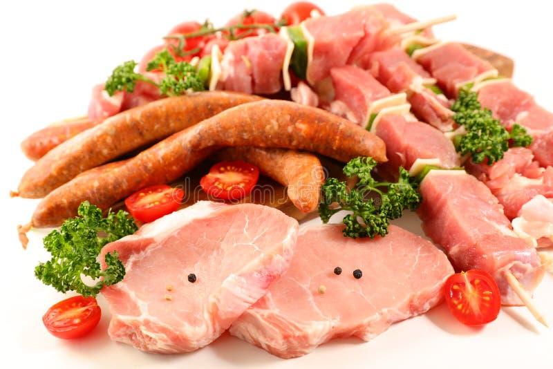 ανάμεικτα κρέατα ακατέργα στοκ εικόνα