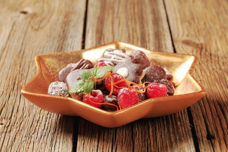 Ανάμεικτα μπισκότα σοκολάτας στοκ εικόνα