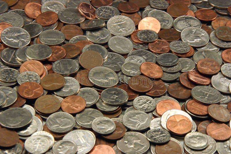 ανάμεικτα νομίσματα εμείς στοκ εικόνες