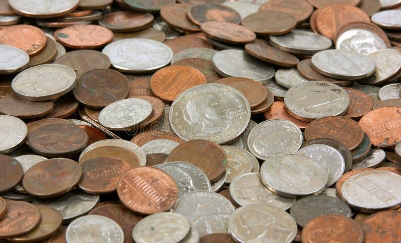 ανάμεικτα νομίσματα στοκ φωτογραφία με δικαίωμα ελεύθερης χρήσης