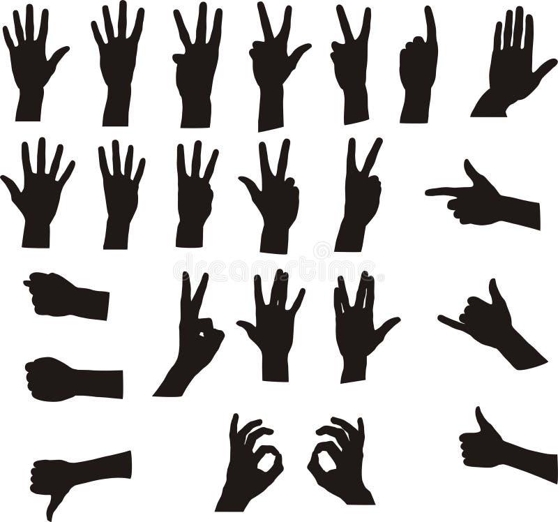 ανάμεικτα σήματα χεριών διανυσματική απεικόνιση