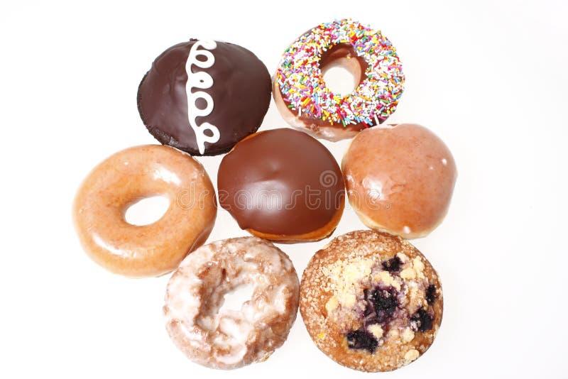 ανάμεικτα donuts στοκ εικόνες