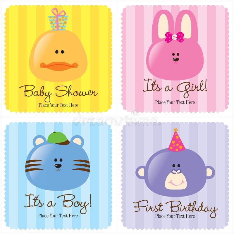 ανάμεικτες κάρτες μωρών ελεύθερη απεικόνιση δικαιώματος