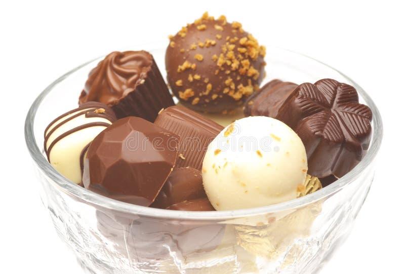 ανάμεικτες σοκολάτες στοκ εικόνα