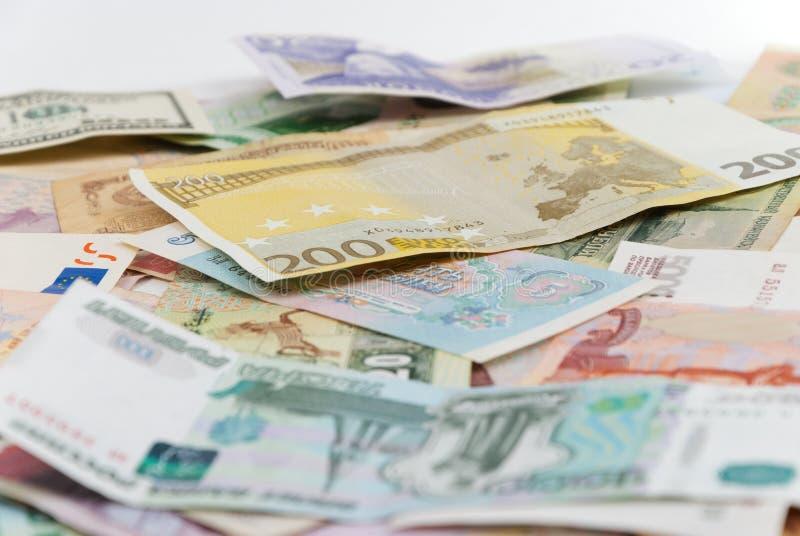ανάμεικτος κόσμος τραπεζογραμματίων στοκ φωτογραφία