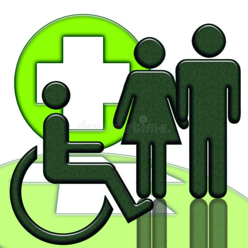 ανάπηρος άνθρωπος διανυσματική απεικόνιση