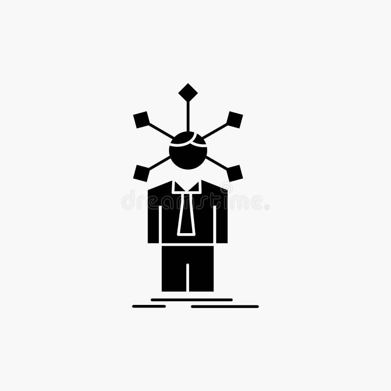 ανάπτυξη, άνθρωπος, δίκτυο, προσωπικότητα, μόνο εικονίδιο Glyph : απεικόνιση αποθεμάτων