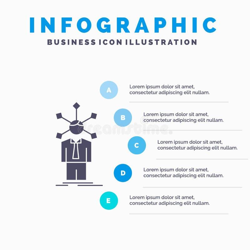 ανάπτυξη, άνθρωπος, δίκτυο, προσωπικότητα, μόνο πρότυπο Infographics για τον ιστοχώρο και παρουσίαση Γκρίζο εικονίδιο GLyph με το ελεύθερη απεικόνιση δικαιώματος