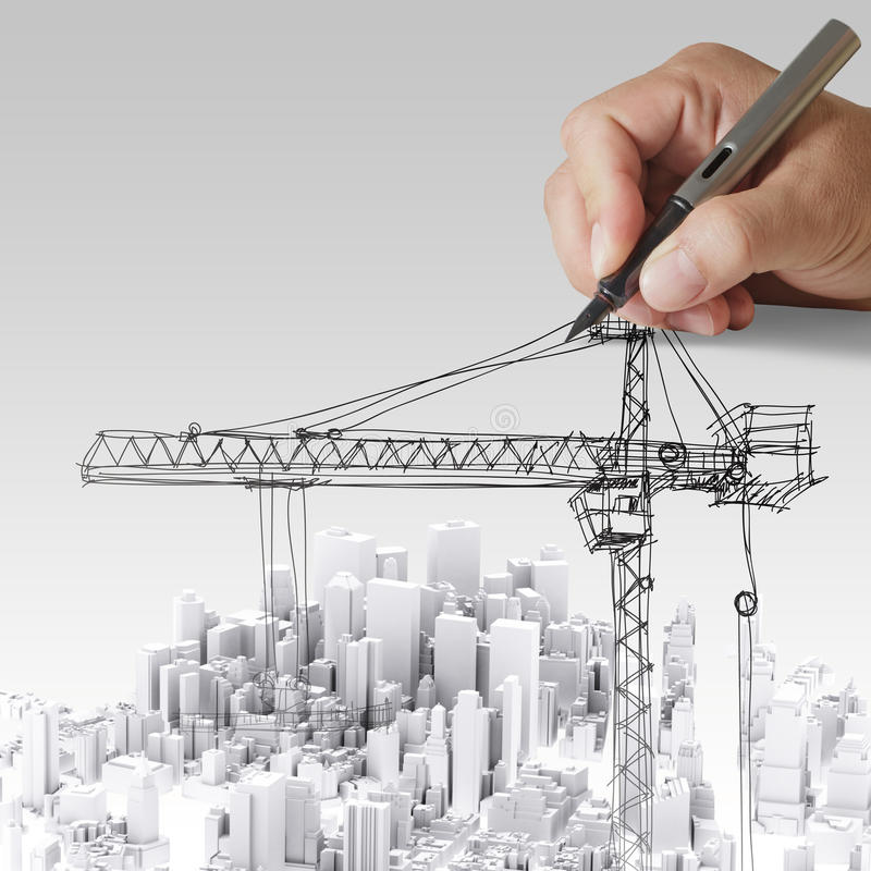ανάπτυξη έννοιας οικοδόμησης απεικόνιση αποθεμάτων