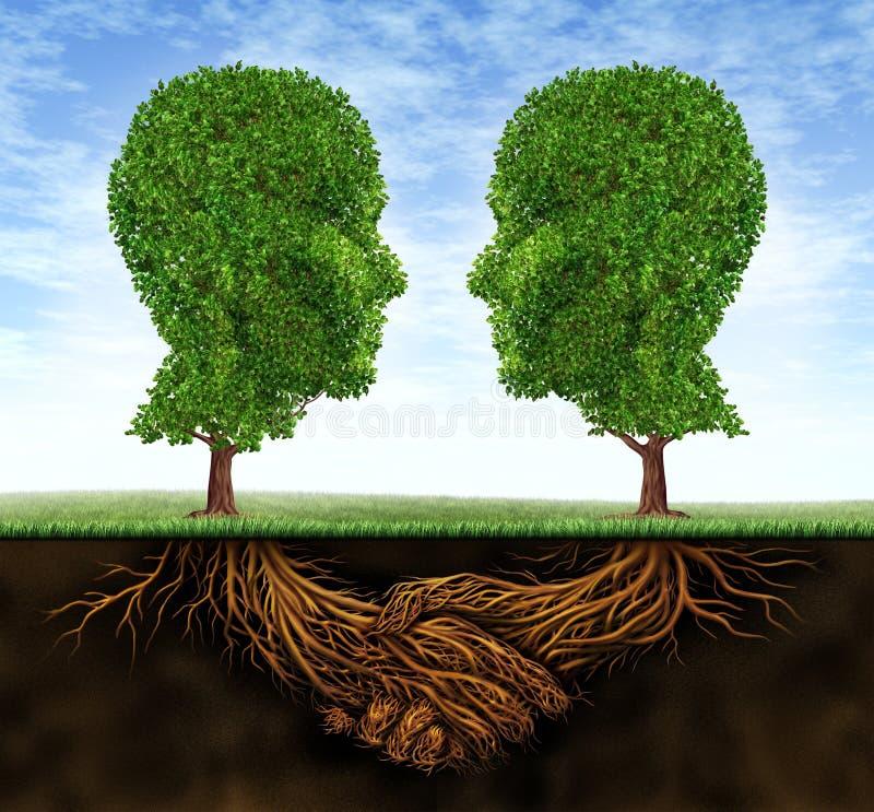 ανάπτυξη επιχειρησιακής συνεργασίας διανυσματική απεικόνιση