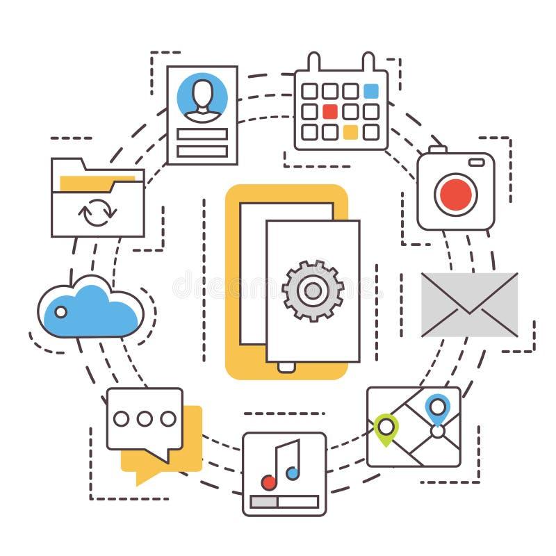 Ανάπτυξη εφαρμογών apps κινητός ελεύθερη απεικόνιση δικαιώματος