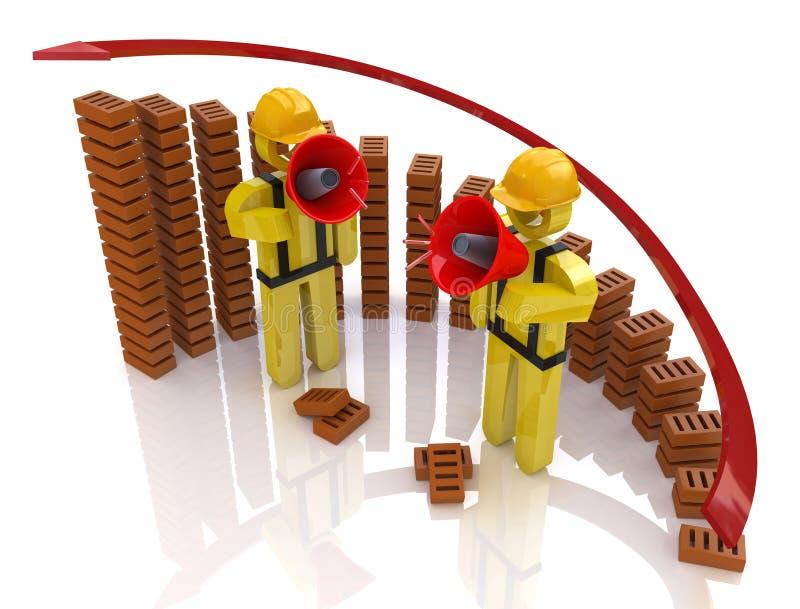 Ανάπτυξη διαγραμμάτων της Οικοδομικής Βιομηχανίας - κατασκευή concep απεικόνιση αποθεμάτων