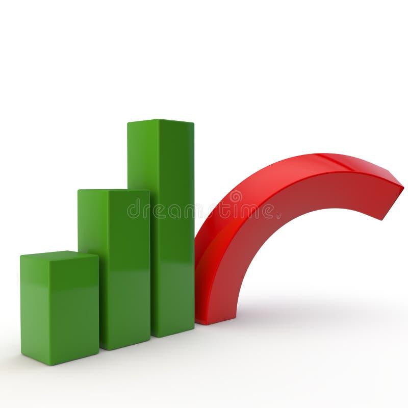 Ανάπτυξη και κρίση διανυσματική απεικόνιση