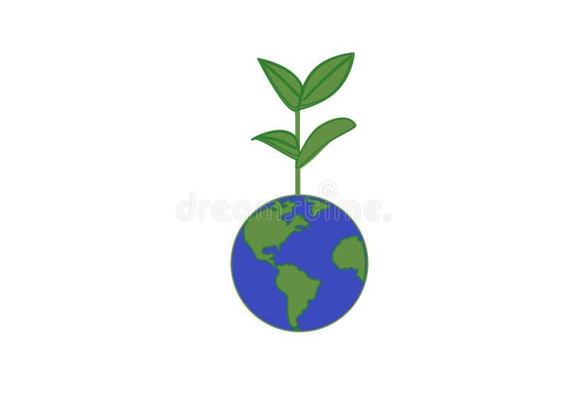 Ανάπτυξη πράσινων εγκαταστάσεων από τη γη απεικόνιση αποθεμάτων