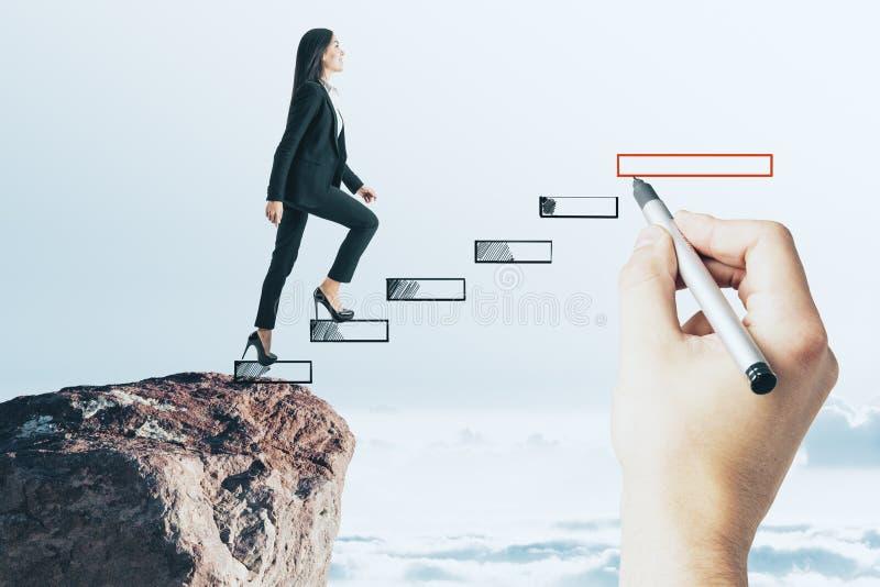Ανάπτυξη σταδιοδρομίας και έννοια επιτυχίας στοκ εικόνες