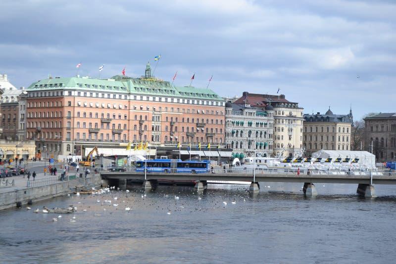 Ανάχωμα στο cental μέρος της Στοκχόλμης στοκ φωτογραφίες