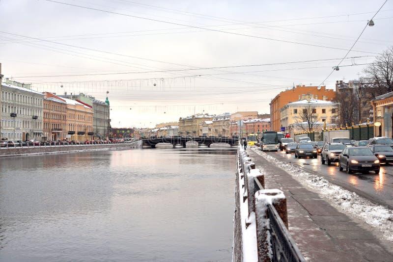 Ανάχωμα του ποταμού Fontanka στοκ φωτογραφία με δικαίωμα ελεύθερης χρήσης