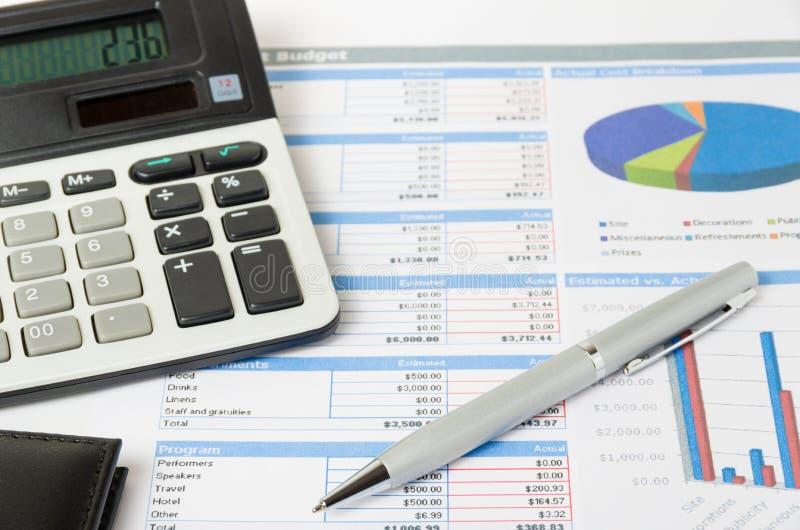 Ανάλυση του προϋπολογισμού στοκ φωτογραφίες