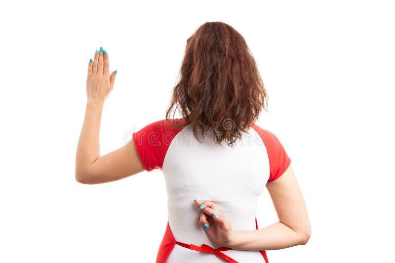 Ανέντιμος υπάλληλος υπεραγορών ή υπεραγορών θηλυκών στοκ εικόνα