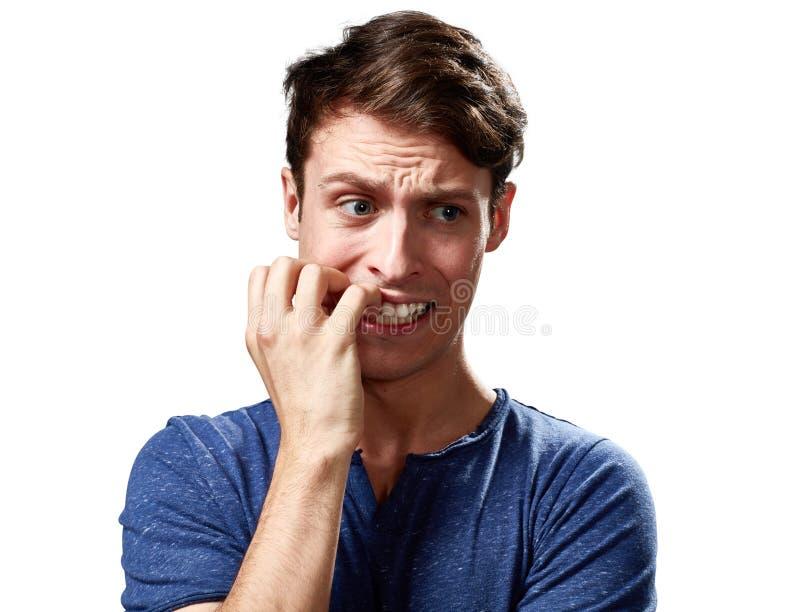 Ανήσυχο πρόσωπο ατόμων στοκ φωτογραφία με δικαίωμα ελεύθερης χρήσης
