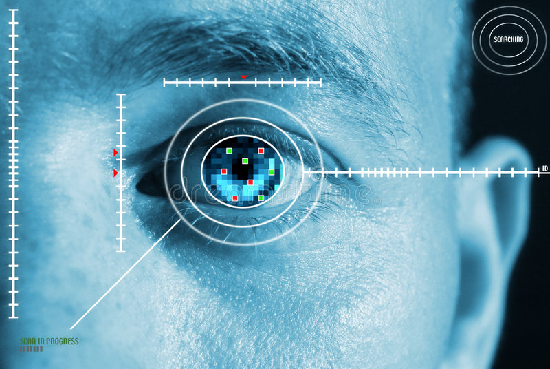 ανίχνευση ίριδων ματιών στοκ εικόνες με δικαίωμα ελεύθερης χρήσης