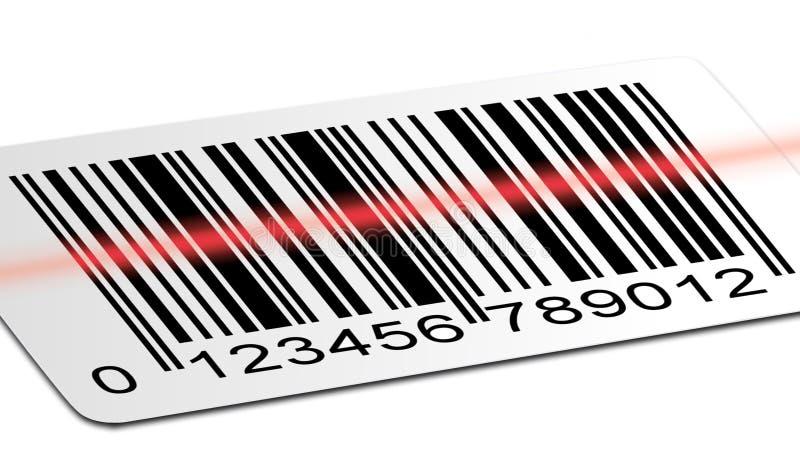 ανίχνευση γραμμωτών κωδίκ&ome διανυσματική απεικόνιση