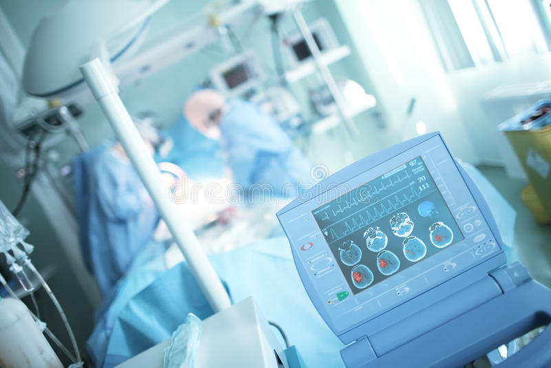 Ανίχνευση της ζημίας εγκεφάλου στο ICU στοκ εικόνες με δικαίωμα ελεύθερης χρήσης