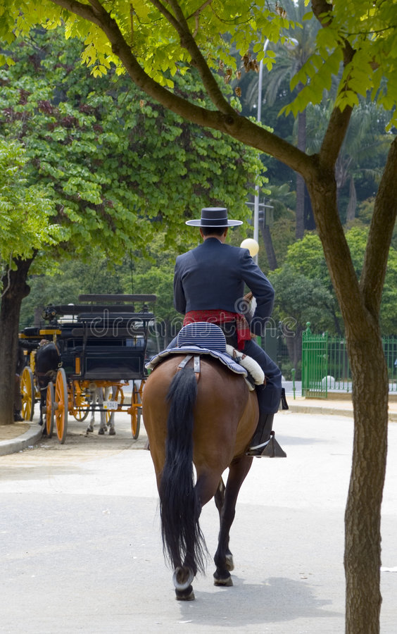 αναβάτης ισπανικά στοκ φωτογραφία με δικαίωμα ελεύθερης χρήσης