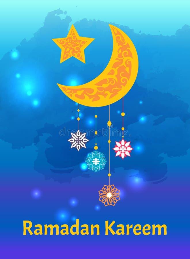 Αναγνωρίσεις του Kareem Ramadan του ημισεληνοειδούς αστεριού φεγγαριών απεικόνιση αποθεμάτων