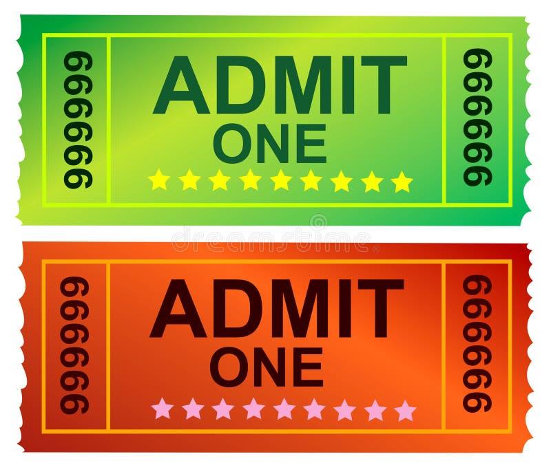 αναγνωρίστε ένα εισιτήρι&omicron διανυσματική απεικόνιση