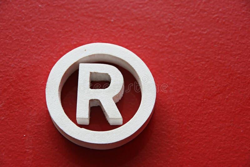 Αναγνωρισμένο εμπορικό σήμα ρ στοκ εικόνα