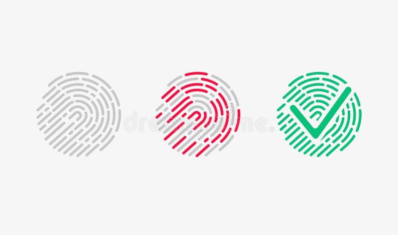Αναγνώριση αφής Προσεγγισμένο σύνολο εικονιδίων απεικόνιση αποθεμάτων