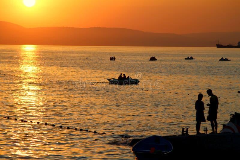 Αναγνώριση στο ηλιοβασίλεμα στοκ εικόνες