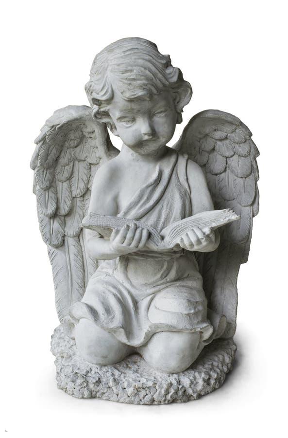 Αναγνώστης βιβλίων αγαλμάτων στοκ εικόνα