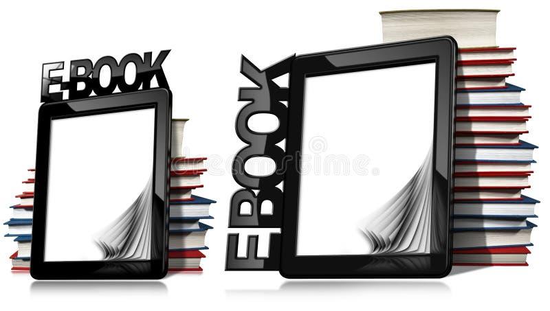 αναγνώστης βιβλίων ε βιβ&lambda απεικόνιση αποθεμάτων