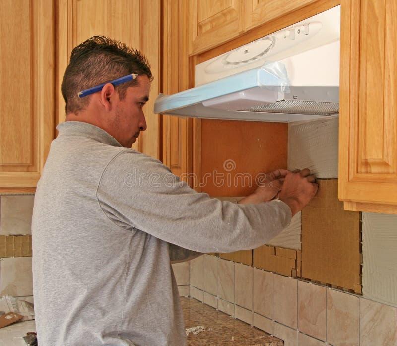 αναδιαμόρφωση κουζινών στοκ εικόνα