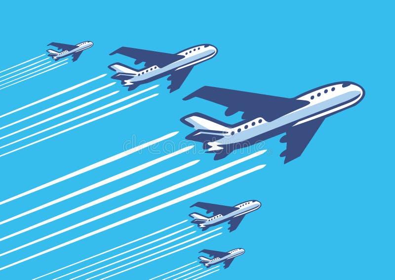 Αναδρομικά αεροπλάνα ελεύθερη απεικόνιση δικαιώματος