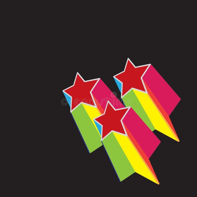 αναδρομικά αστέρια διανυσματική απεικόνιση