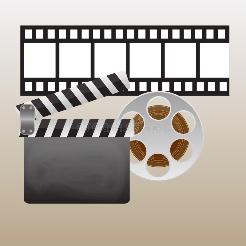 Αναδρομικά αφίσες και ιπτάμενα κινηματογράφων καθορισμένες Εκλεκτής ποιότητας συλλογή εκτύπωσης κινηματογράφων προωθητική Μπορέστ διανυσματική απεικόνιση
