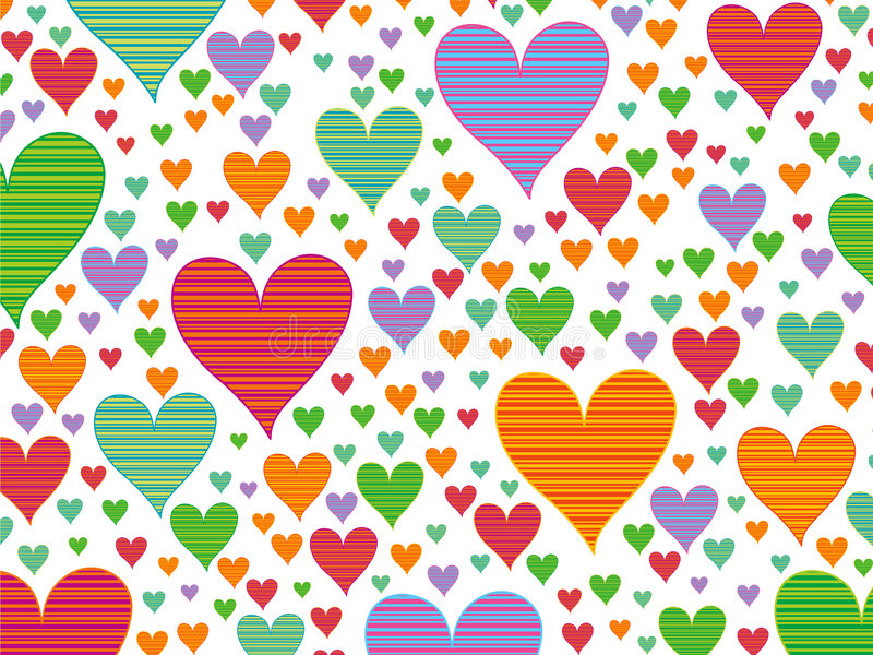 αναδρομικά λωρίδες καρδιών καραμελών ελεύθερη απεικόνιση δικαιώματος