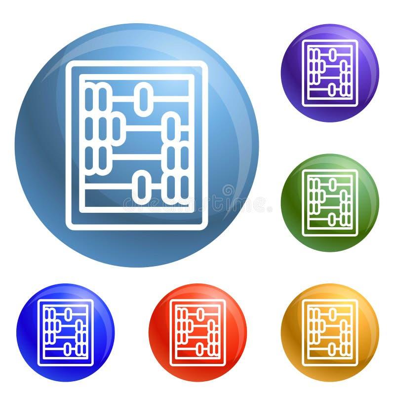Αναδρομικά ξύλινα εικονίδια υπολογιστών καθορισμένα διανυσματικά διανυσματική απεικόνιση