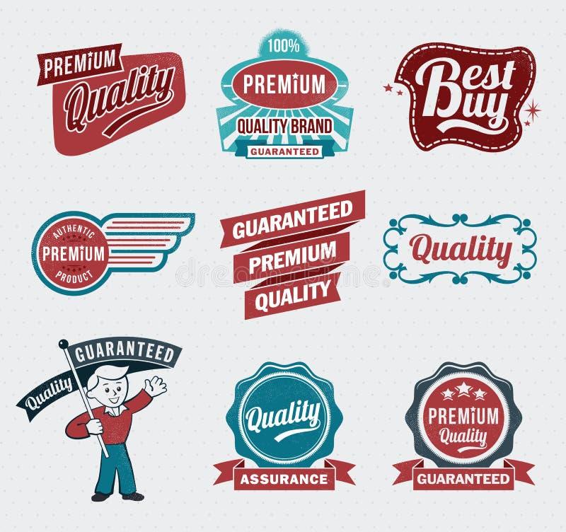 Αναδρομικές εκλεκτής ποιότητας ετικέτες απεικόνιση αποθεμάτων