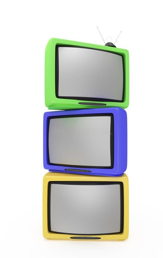 αναδρομικές τηλεοράσει διανυσματική απεικόνιση