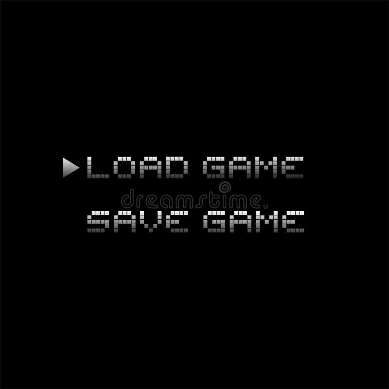 Αναδρομικές videogame επιλογές διανυσματική απεικόνιση
