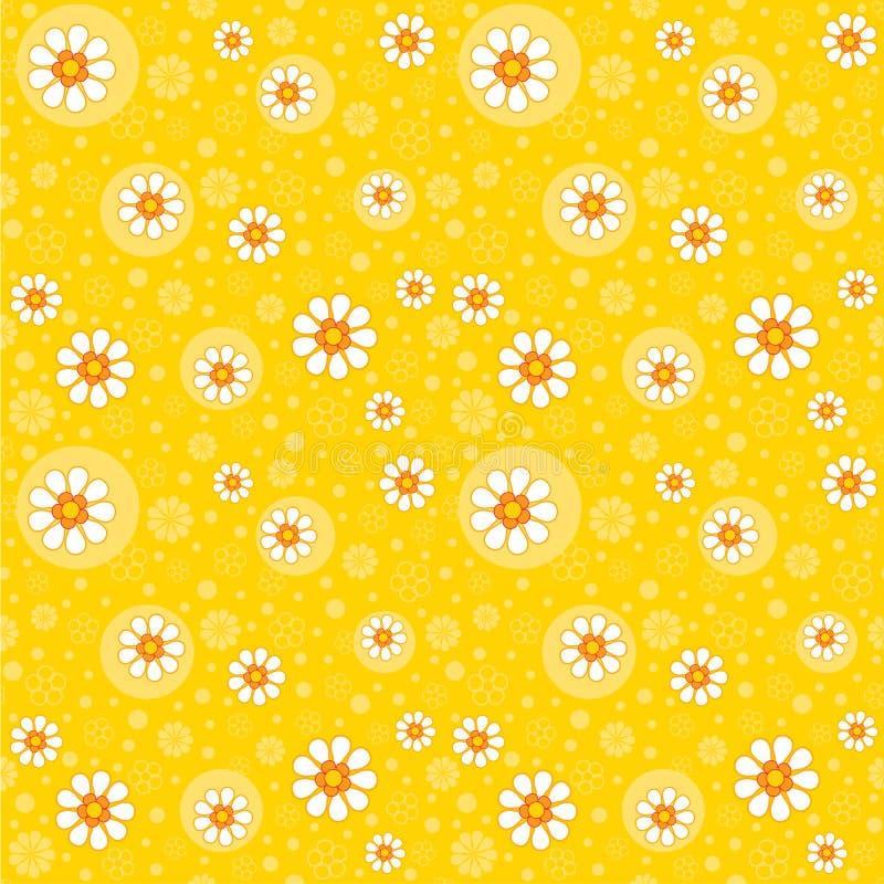 Αναδρομική άνευ ραφής floral ανασκόπηση διανυσματική απεικόνιση